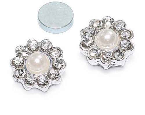 MAGNET Blumen Perlen Kristall Ohrstecker Ohrringe Piercing Magnetschmuck X-86