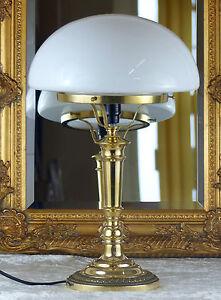 Tischlampe Jugendstil Schreibtischlampe Nachttischlampe Messing Antik Lampe Neu