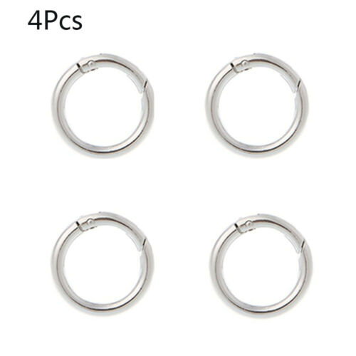 4 Pcs Durable Round Ring Circle Spring Snap DIY Keyring Hook Handbag Accessories