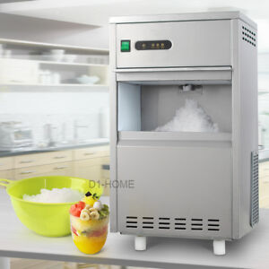 Details about 44lb Restaurant Snow Flake Ice Maker Machine Stainless Steel  Home Bar 110V Auto