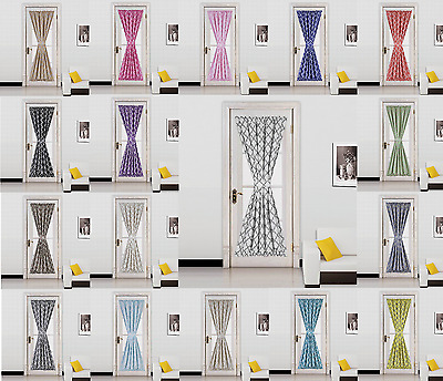 6PC WHOLESALE DEAL Geometric Blackout Window Curtain French Door Panel ELLA
