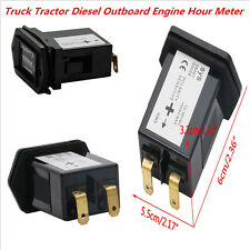 Universal Truck MotorcyleTractor Diesel Outboard Engine Hour Meters Rectangular