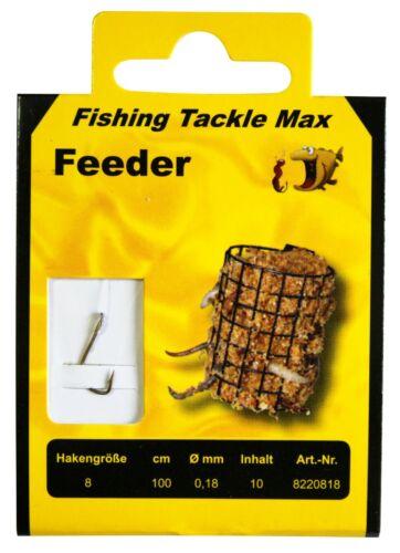 FTM Feeder Haken Bronze gebunden 100cm verschiedene Größen Fishing Tackle Max