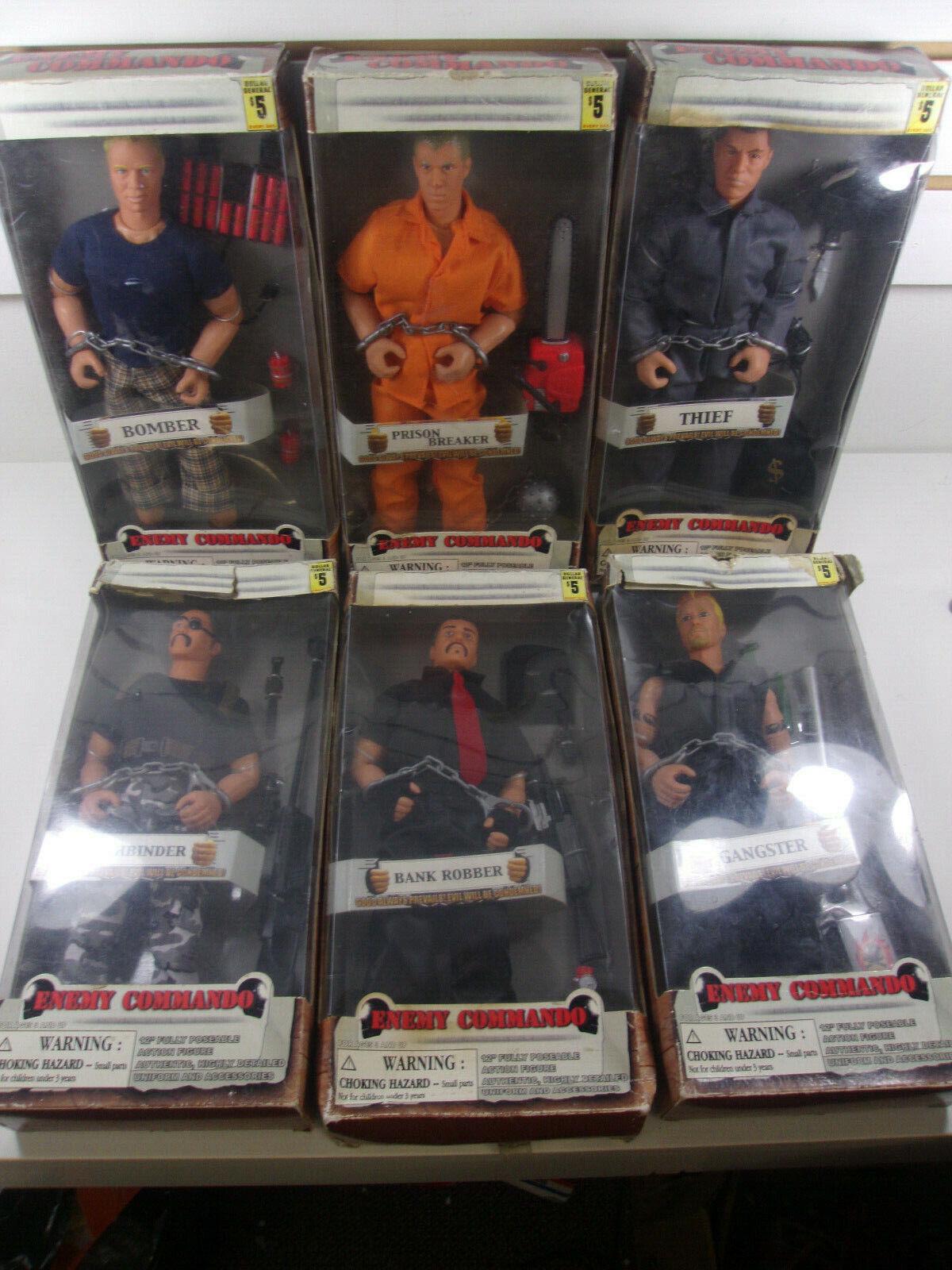 Comando enemigo figuras completo conjunto de seis Dolgencorp Raro KO 1 6 12  Gi Joe