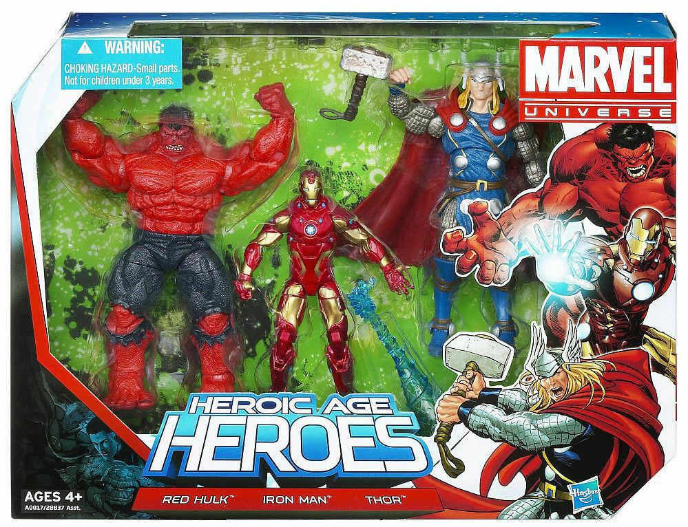 Heroic Age Heroes (2012) MARVEL UNIVERS Figurines rouge Hulk Thor Iron Man