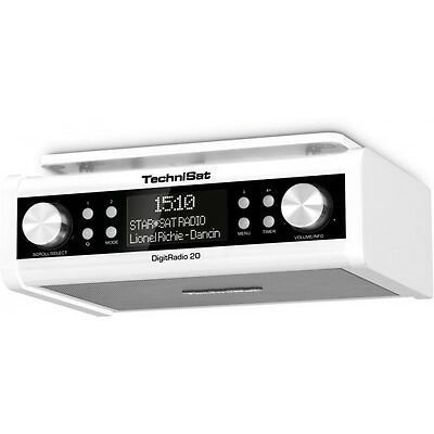 TechniSat DigitRadio 20 DAB+ Digitalradio Küchenradio Uhrenradio weiss