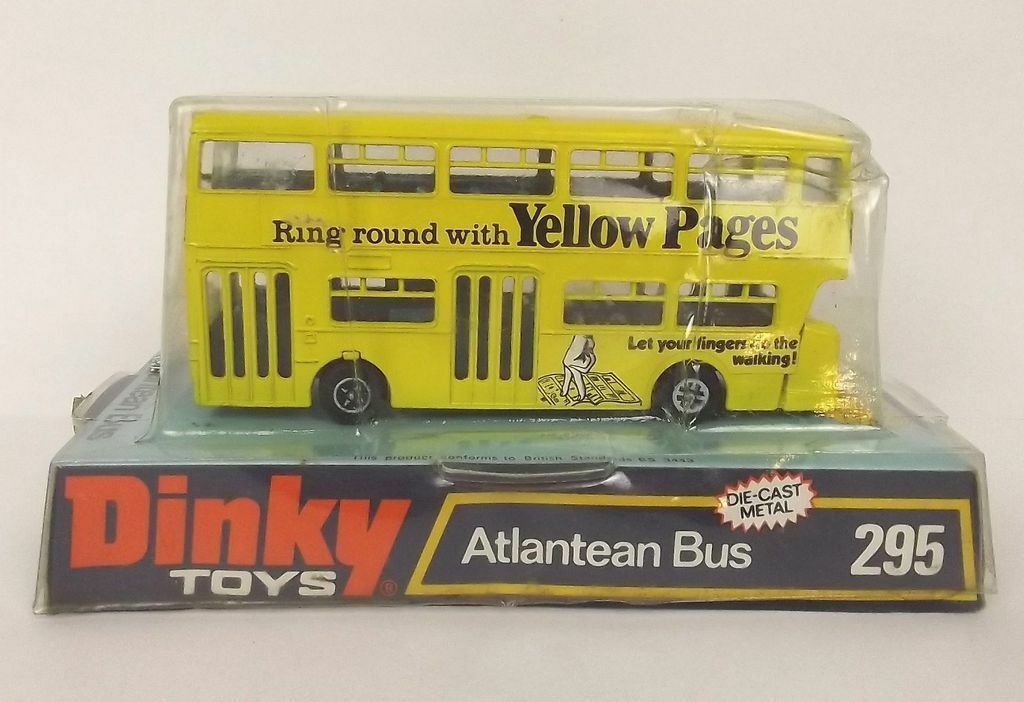 Dinky Toys No. 295 Atlantean Yellow Pages Bus 1973-76