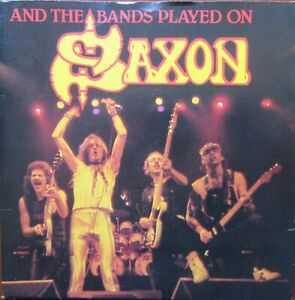 SAXON-And-The-Bands-Played-On-Hungry-Years-Heavy-Metal-Thunder-Carrere-EX