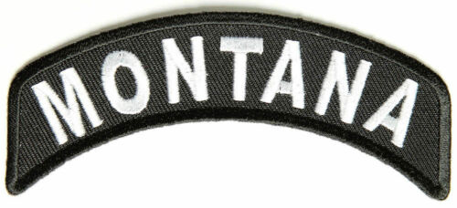 Montana Rocker Patch Small Embroidered Motorcycle NEW Biker Vest Patch