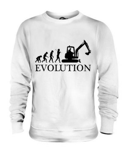EXCAVATOR EVOLUTION OF MAN UNISEX SWEATER  Herren Damenschuhe LADIES GIFT BUILDER