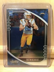 2020 Panini Absolute Justin Herbert RC #167 Chargers (CHA003)