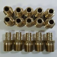 Lot Of 15 12 Pex X 12 Mpt Male Thread F1960 Expansion Adapter Fitting Brass