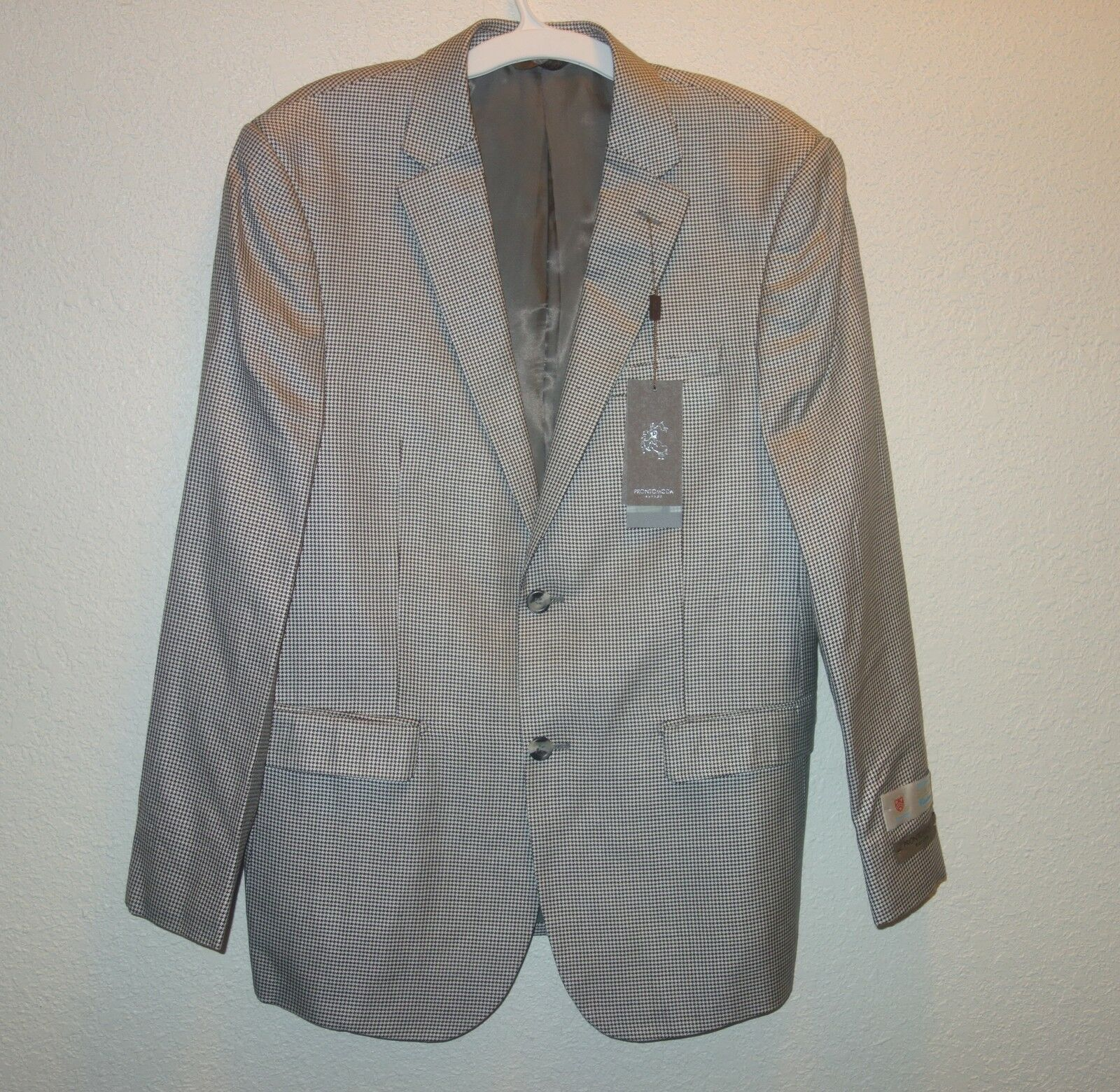 Pronto Moda europa  men's SPORTS BLAZER SZ 40R SILK WOOL NEW