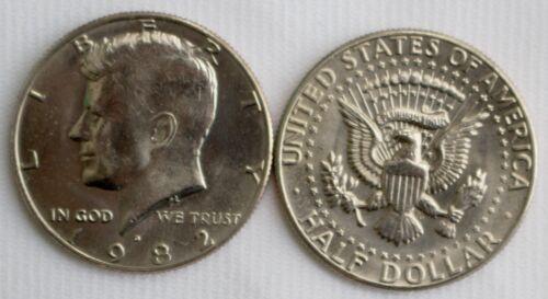 1982 D BU Kennedy Roll 20 Half Dollar Coins Twenty 50 Cents in Coin Rolled UNC