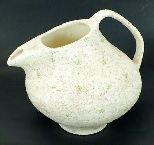 Vintage SPECKLED Sand Glaze TEXTURED Hand Crafted ROUGH Pottery Vase Pitcher