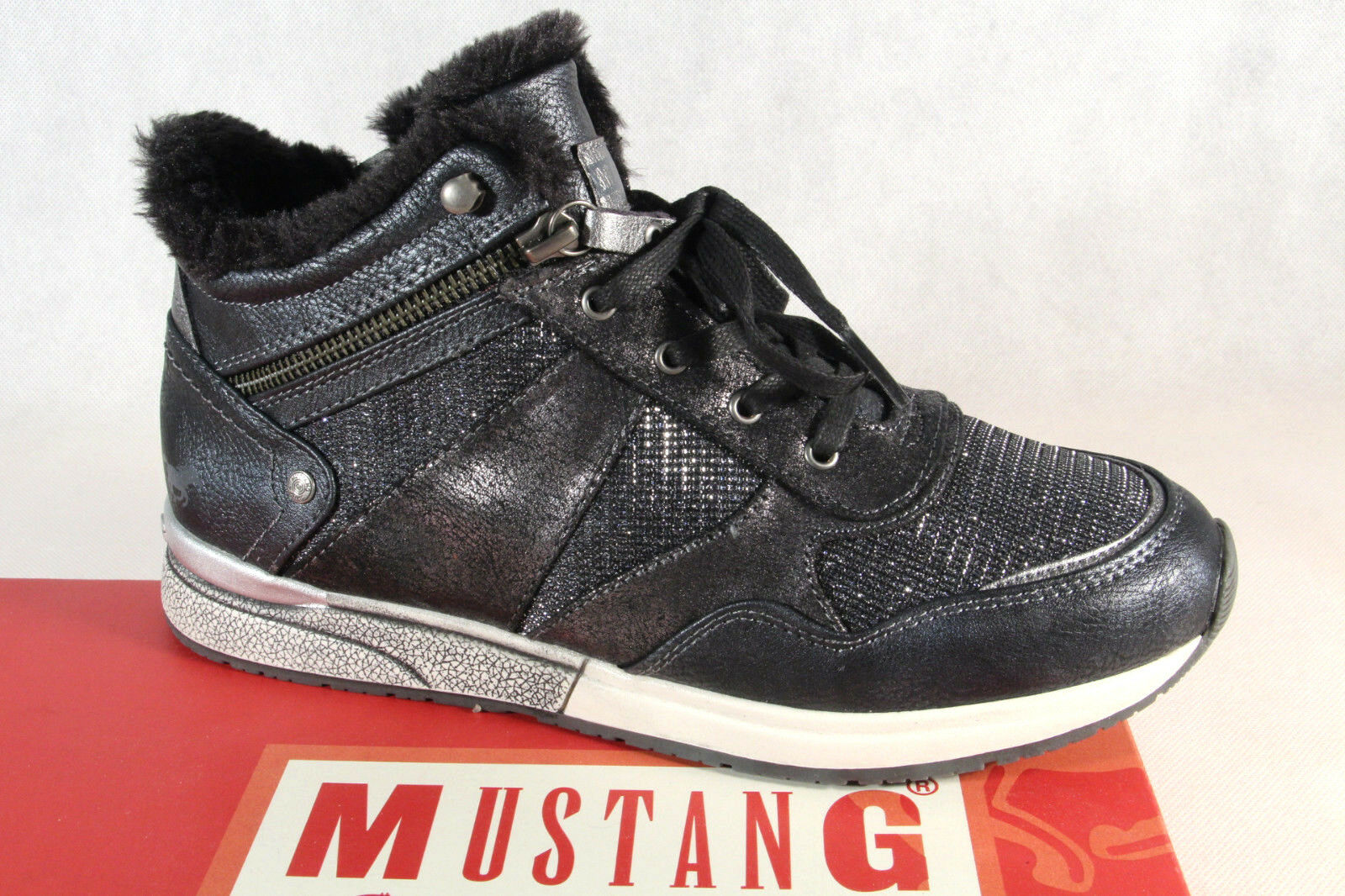 Mustang Botines Botines 1289 botas de Cordón botas gris 1289 Botines Nuevo 6f4cb1