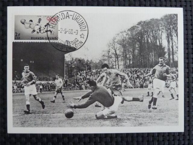 RUANDA MK 1960 OLYMPICS SOCCER FOOTBALL MAXIMUMKARTE MAXIMUM CARD MC CM R!! c656
