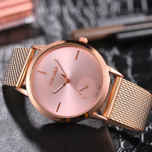 Fashion-Unisex-Men-Women-039-s-Analog-Quartz-Stainless-Steel-Wrist-Watch-Bracelet