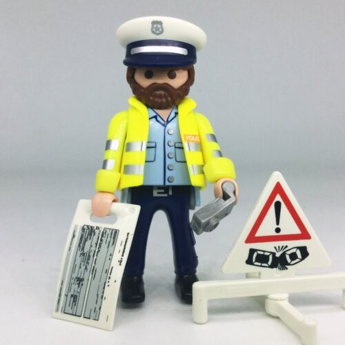 Playmobil S13 agent police accident