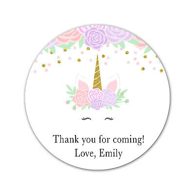 Matte Pack of 35 Pink Floral Stickers Personalised Pink Floral Baby Shower Thank You Stickers Sweet Cone Stickers