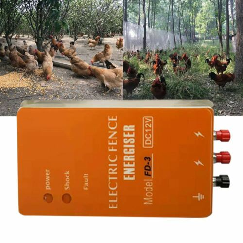 FD-3 Solar Fencing Energizer Charger Controller for Animal Predators Farm