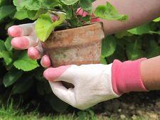 RHS Tough Tips Ladies Gardening Gloves - Pink - SIZE SMALL