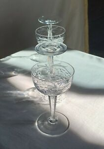 Bohemian-cut-and-polished-crystal-cocktail-glasses-FOUR-Hawkes-style-4-1-8-034-h