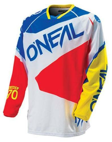 Oneal Hardwear Flow Motocross Offroad Jersey Blue Red 3 SIZES!