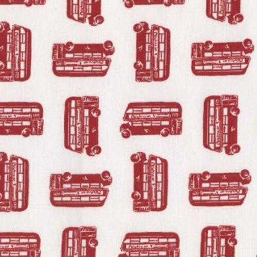 ♥ DEAR STELLA London Bus Rot ♥ Stoff Baumwolle 50x110