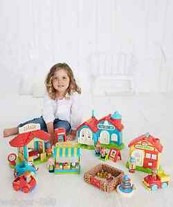 New Elc Boys And Girls Happyland Bumper Village Set Toy From 18