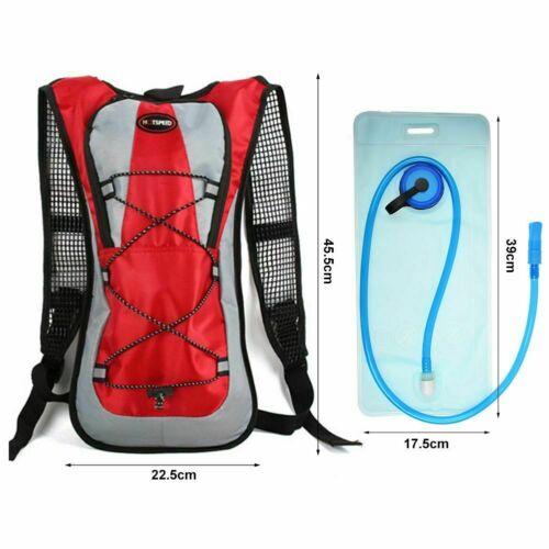 Hiking Camping Cycling Running Hydration Pack Backpack Bag 2L Water Bladder AT