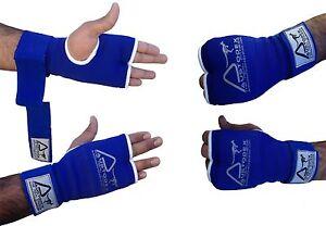 DAM INNER FIST GEL BANDAGES MMA BOXING INNER QUICK HAND WRAPS GLOVES STRAP BLACK