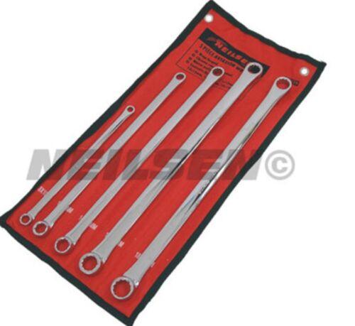 5pc metric ring spanner tool set 8 10 11 13 14 15 16 17 18 19mm long aviation