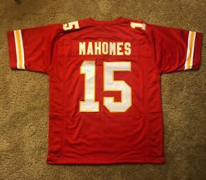 low cost 8c356 cf40b Details about PATRICK PAT MAHOMES CUSTOM KANSAS CITY SEWN STITCHED JERSEY  CHIEFS SUPERSTAR