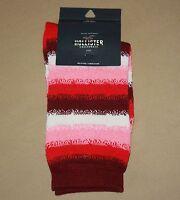 Hollister California Womens One Size Socks Red Toned Stripe Design