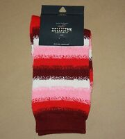 Hollister California Womens One Size Socks Red Toned Stripe Design