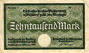 RPR-10-Muller-1205-4-Rheinprovinz-10000-Mark-1923-Reihe-1-5-5-Pcs