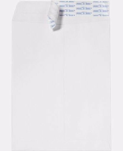 9  x 12  Blank Catalog Envelopes  End Open, White, 28LB, 2500 Count- Peal & Seal