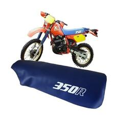 HONDA XR350R XR 350 R 1986 MODEL MOTORCYCLE SEAT COVER IN BLUE with WHITE LOGOS
