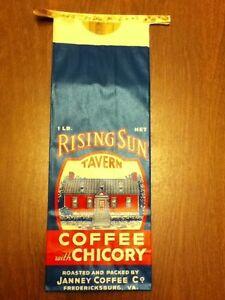 VA Ephemera 5-1940-50/'s Vintage Gunston Hall Coffee Bags Fredericksburg