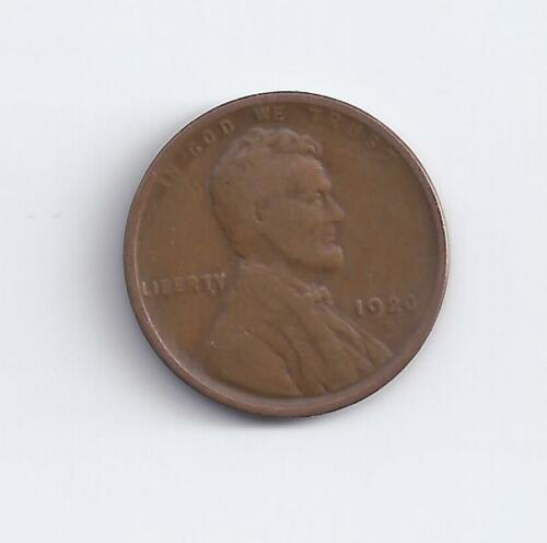 1920-D  Lincoln Wheat Cent in F