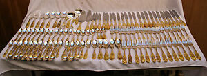 181-PIECE-GOLD-ON-STERLING-SILVER-GORHAM-CROWN-BAROQUE-PATTERN-SERVING-PIECES