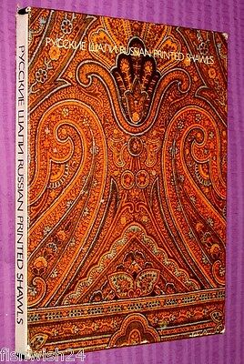 RUSSIAN PRINTED SHAWLS Русские Шали, boxed hardback with many colour pics, rare