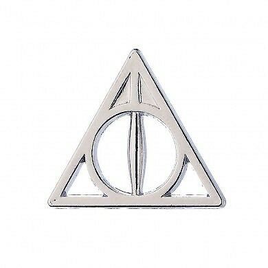 Harry Potter Official Deathly Hallows Pin Badge Hogwarts Jewellery Gryffindor