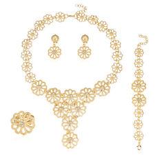 Fashion Jewelry Sets Women Dubai Costume Bridal Wedding Gold Plated Necklace Set