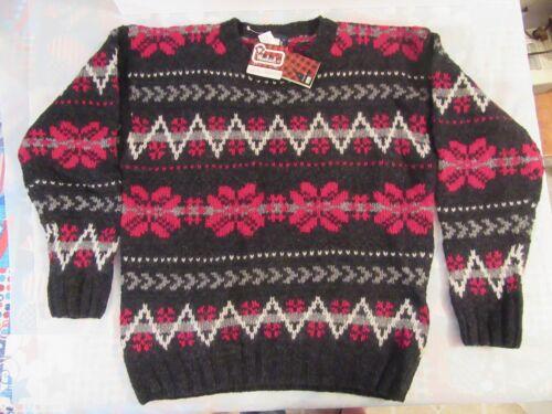 Maglione lana lunghe a vintage con grande rara lana in etichette vintage 100 maniche nuove rWHRp0frn