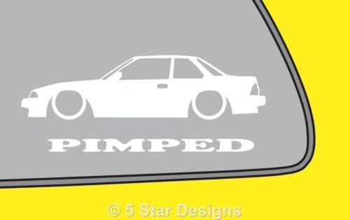 2x PIMPED Honda Prelude Si 2.0 Si 2nd Gen AB BA1 BA2 car Sticker Decal LR276