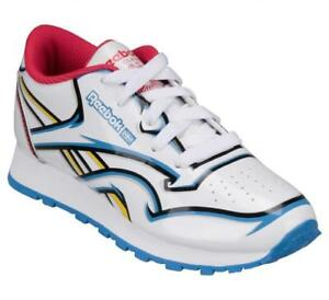35c1476bac Girls REEBOK CL TALKIN KRAZY White Blue Trainers 71 J12097 UK 10 EUR ...