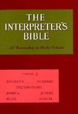 The Interpreter's Bible, Vol. 2: Leviticus, Numbers, Deuteronomy, Joshua, Judg..