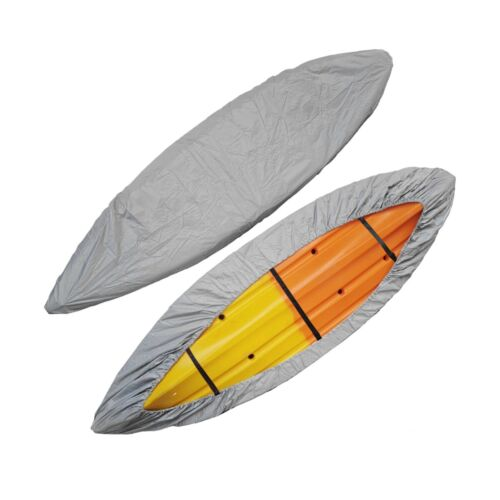 Kayak Cover with Adjustable Bottom Straps UV Resistant Dust Shield Silver For